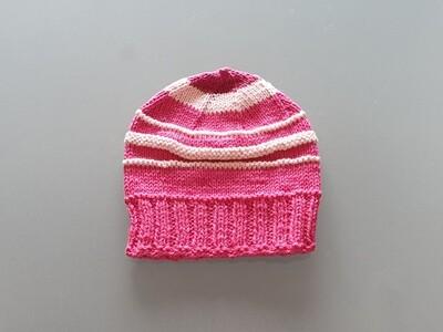 Knit Cotton Cap Fuchsia & Pink