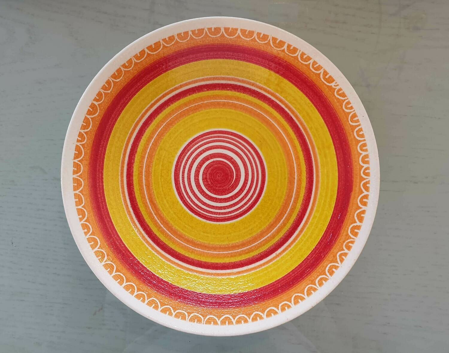 Open Bowl: Orange Border