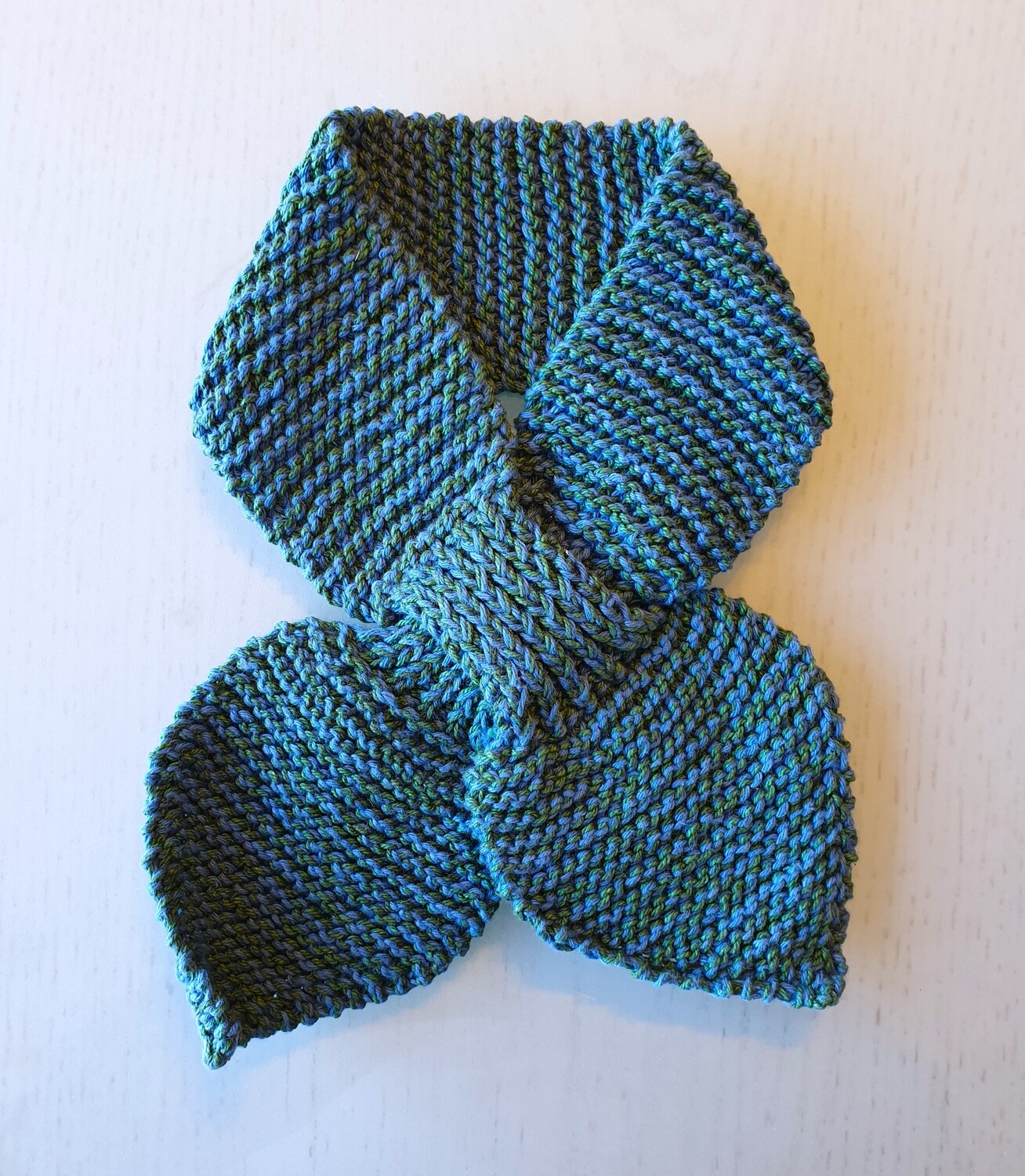 Baby Knit Scarf: Blue Green