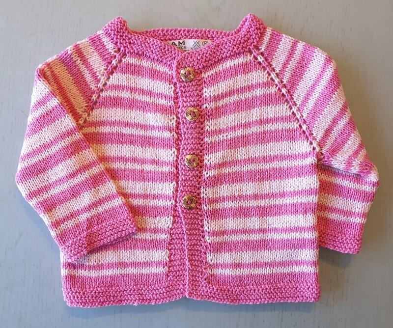 Fuchsia & Pink Striped Jacket (Medium)