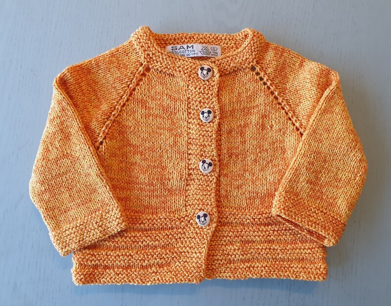 Yellow & Orange Mix Jacket- Ribbed Bottom (Small)