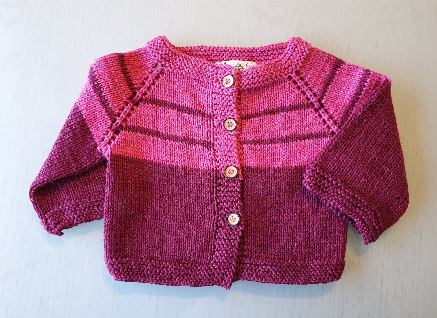 Fuchsia & Burgundy Striped Jacket (Medium)
