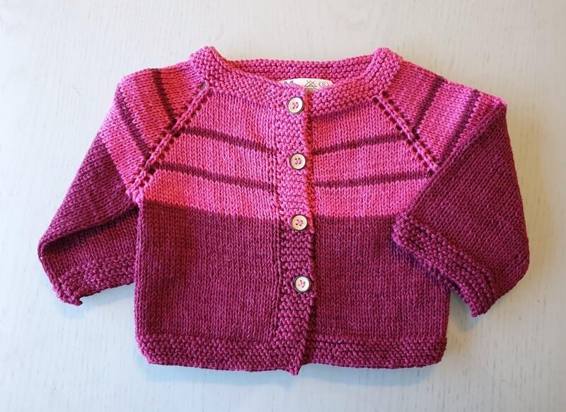 Fuchsia & Burgundy Striped Jacket (Small)