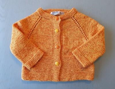 Yellow & Orange Mix Jacket -Wide Ribbed Bottom (Medium)