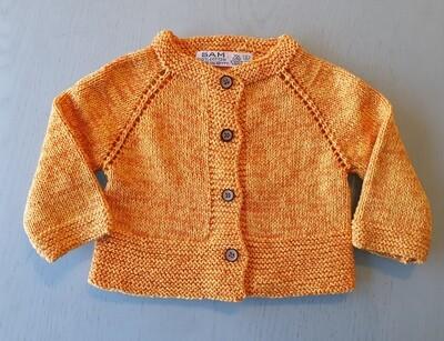 Yellow & Orange Mix Jacket -Wide Ribbed Bottom (Small)