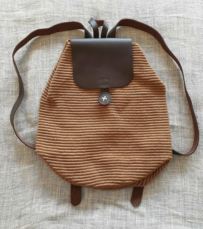 Large Backpack: Caramel Brown