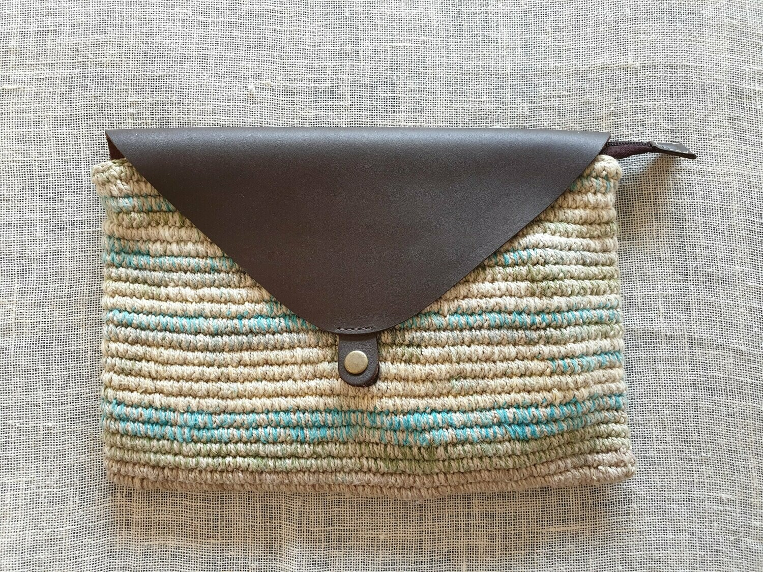 Clutch Bag: Yellow & Turquoise