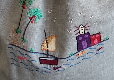 Tote Bag: Grey: Peaceful Day on the Nile
