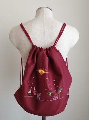 Tote Bag: Reddish Burgundy: Fuul Delivery!
