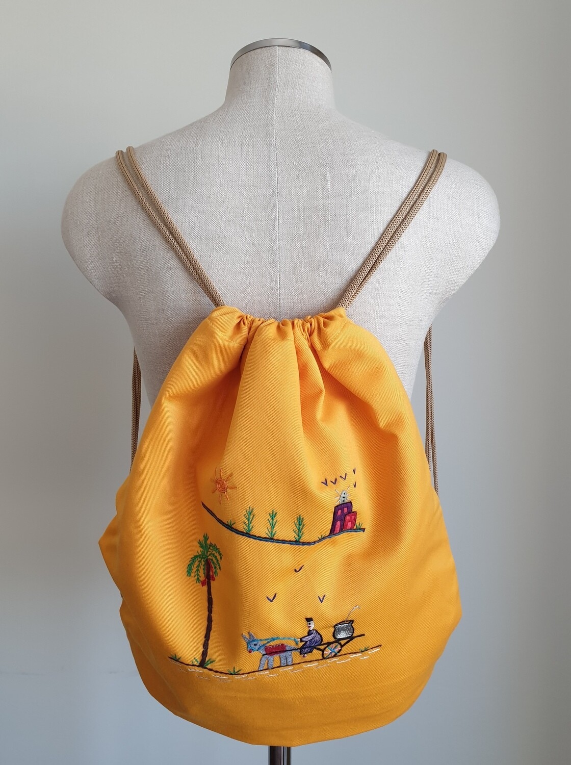 Tote Bag: Yellow: Delivering Fuul on a Donkey Cart