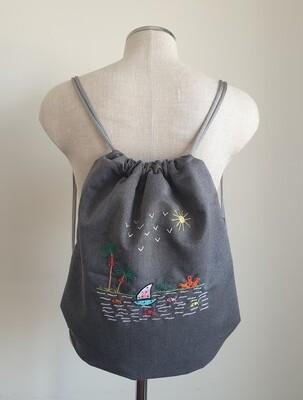 Tote Bag: Grey: Feluka on the Nile