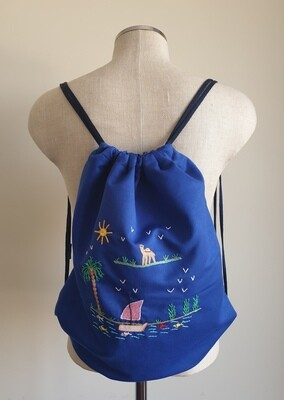 Tote Bag: Royal Blue: A Peaceful Day by the Nile