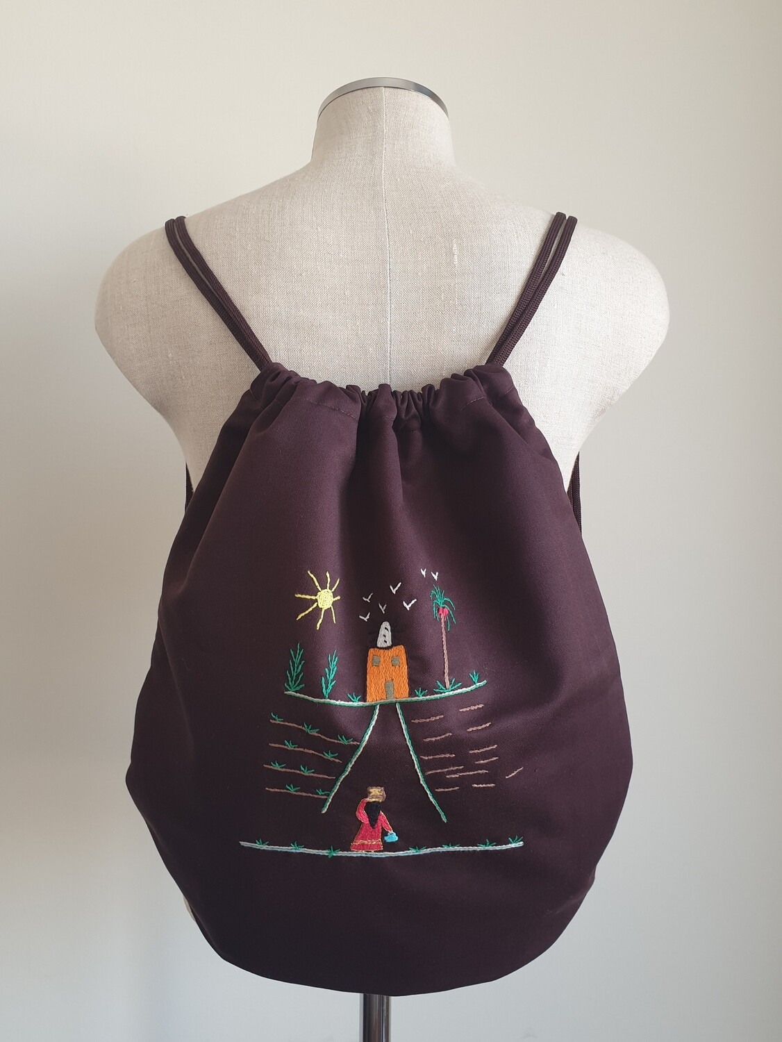 Tote Bag: Brown: Going Home