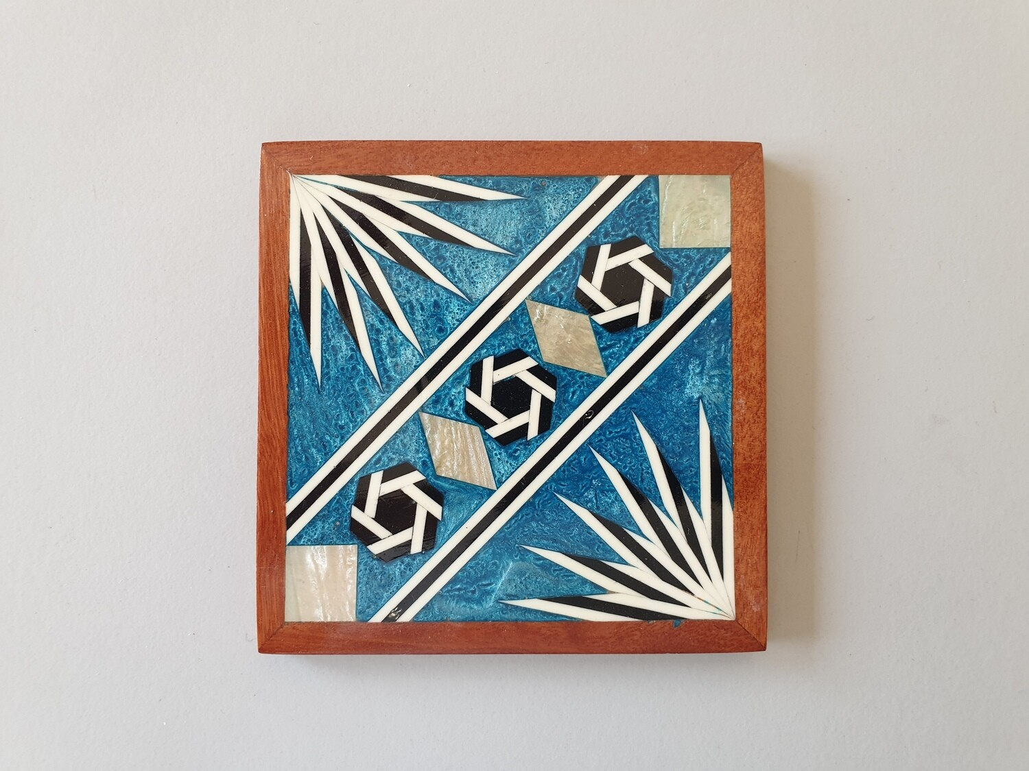 Mother-of-Pearl Coaster: Turquoise: