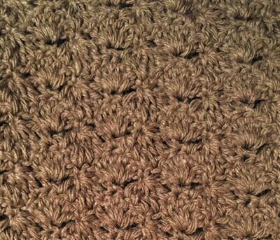 Light Brown Acrylic Mini Blanket