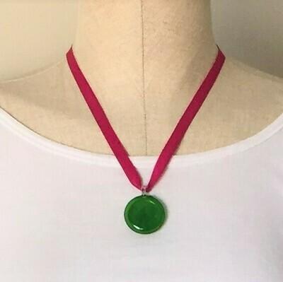 Glass pendant Green