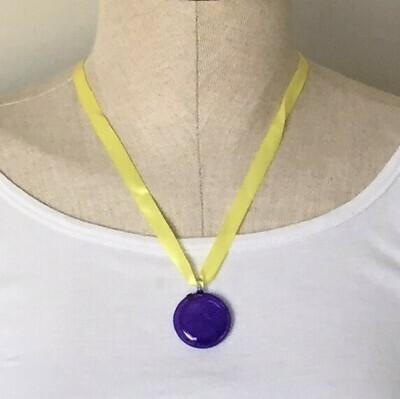 Glass Pendant Purple