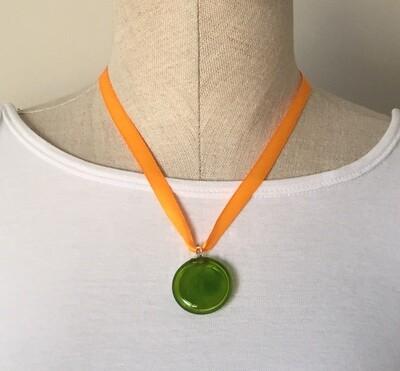 Glass Pendant Olive Green