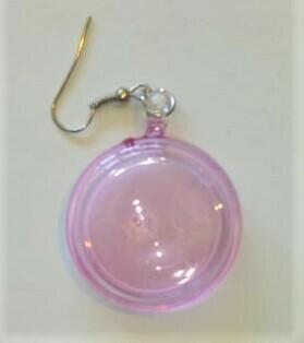 Glass Lollipop Round: Light Pink