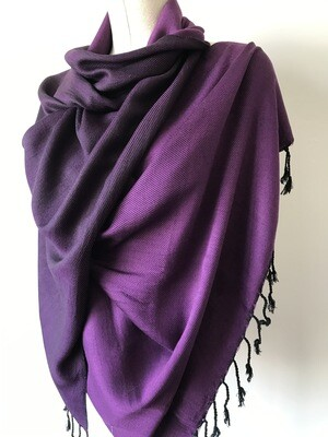Doubleface Shawl Purple & Black
