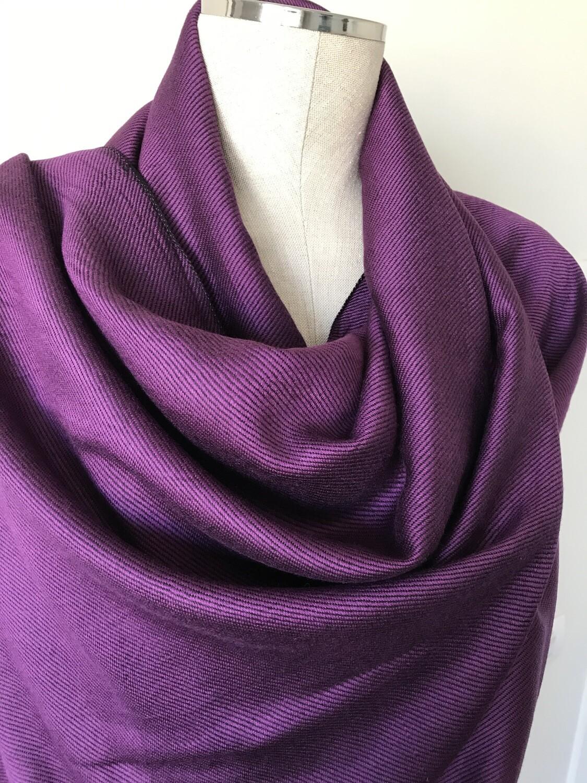 Doubleface Shawl Purple & Black, Viscose