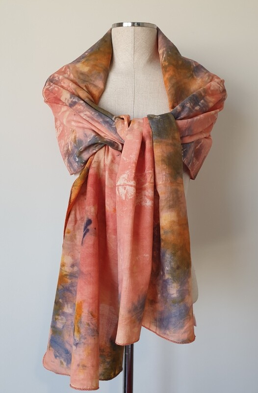 Hand-dyed Ombre Scarf: Iolite Sunstone