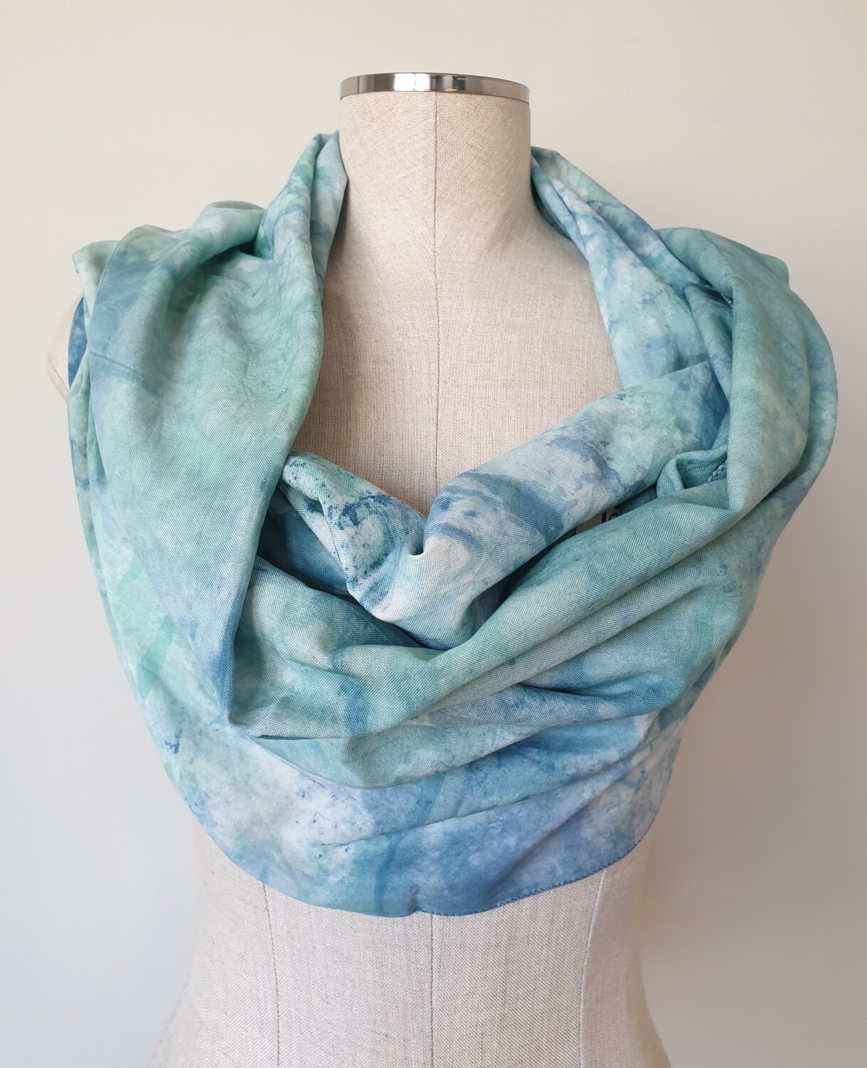 Hand-dyed Ombre Scarf: Sea Glass