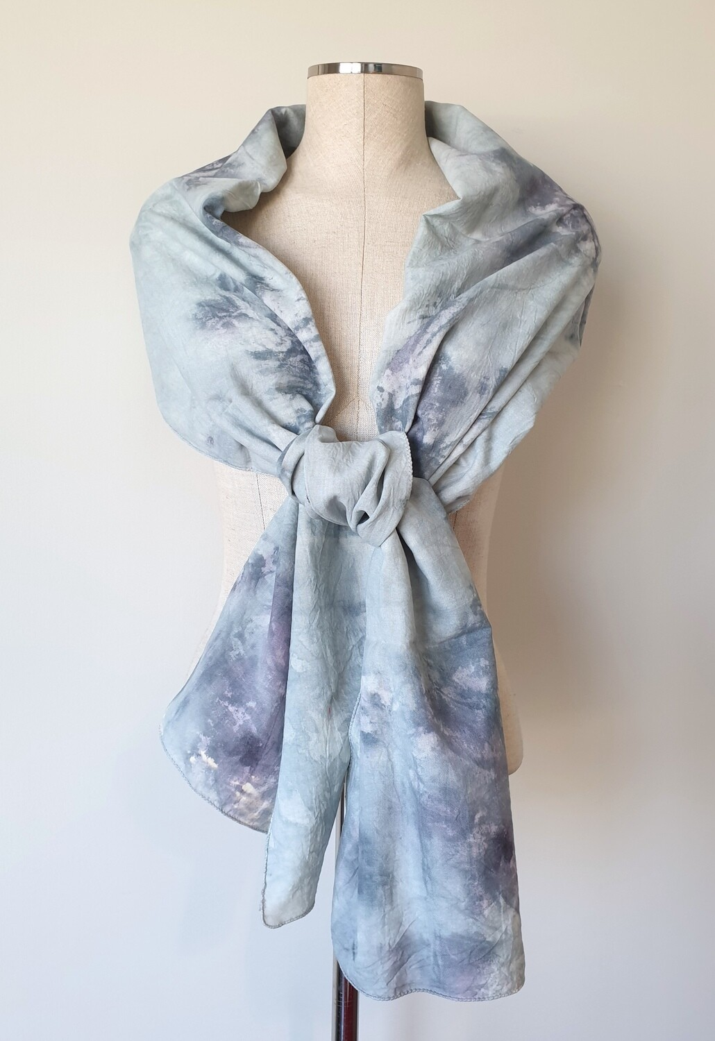 Hand-dyed Ombre Scarf: Celestite