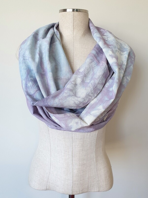 Hand-dyed Ombre Scarf: Pale Fluorite