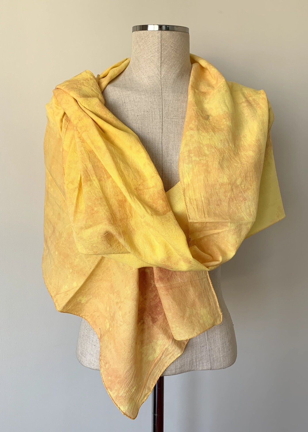 Hand-dyed Ombre Scarf: Yellow Jasper