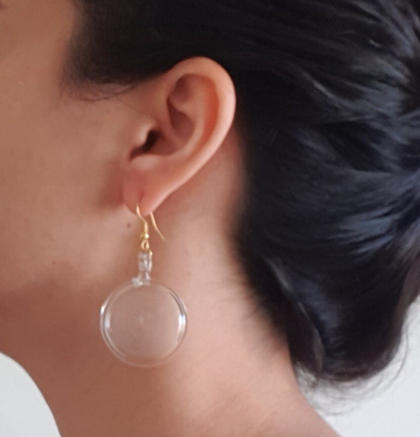 Glass Lollipop Earrings: Transparent