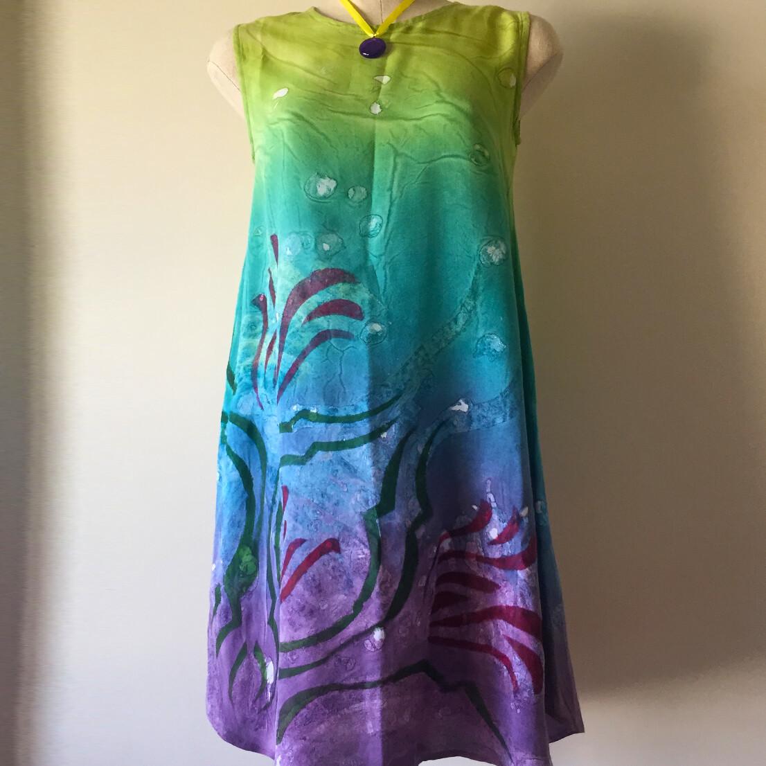 Samar Hassanein Green & Mauve Dress