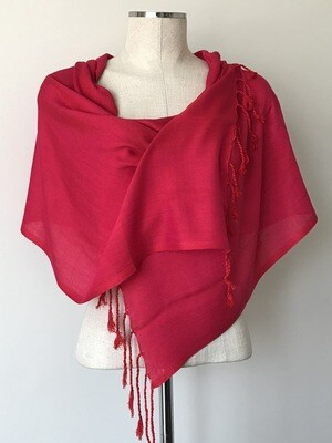 Plain Fuchsia Small Scarf