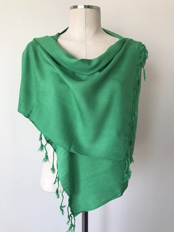 Plain Green Small Scarf