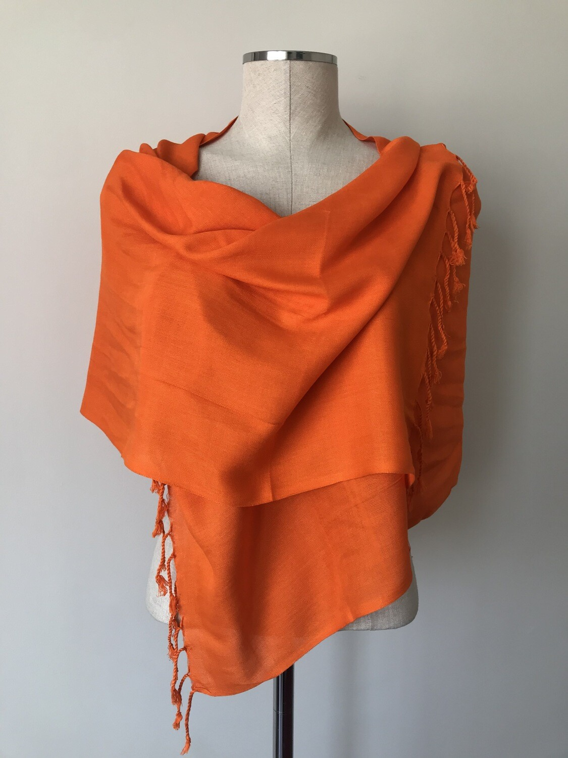 Plain Orange Small Scarf