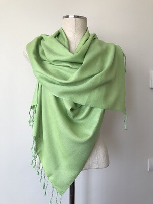 Plain Pistachio Green Small Scarf