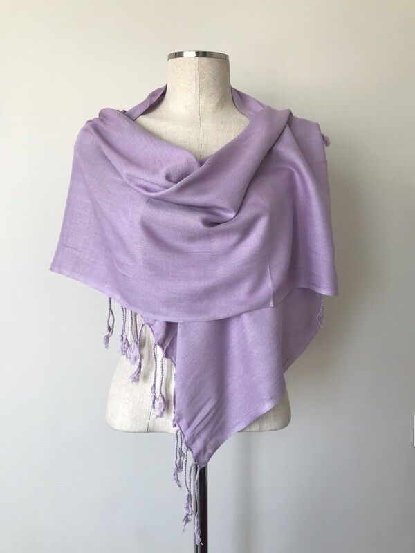 Plain Lilac Small Scarf