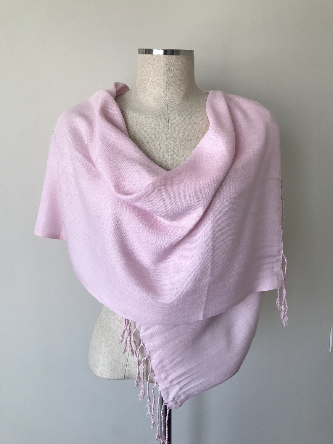 Plain Pale Pink Small Scarf