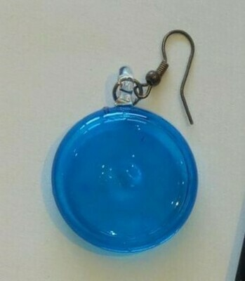 Glass Lollipop Earrings: Turquoise