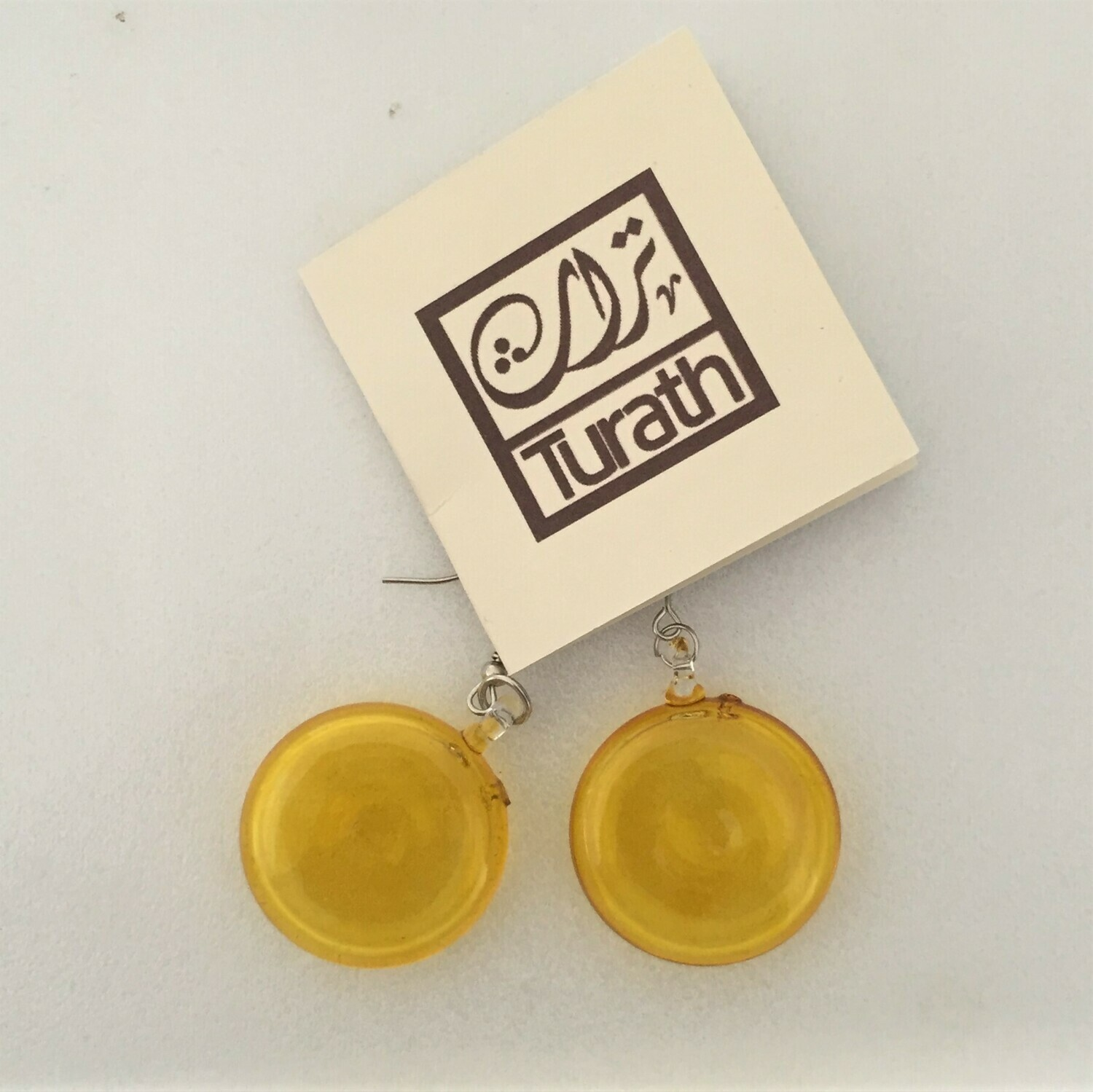 Glass Lollipop Earrings: Yellow
