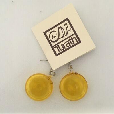 Glass Lollipop Earrings: Yellow