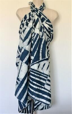 Pareo Zein (cache maillot) Dark Blue & white