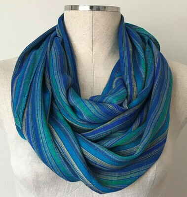 Infinity Navy Blue &Turquoise stripes