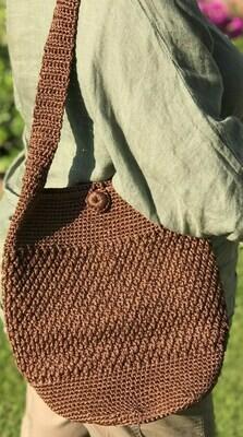 Crochet Shoulder Bag: Brown