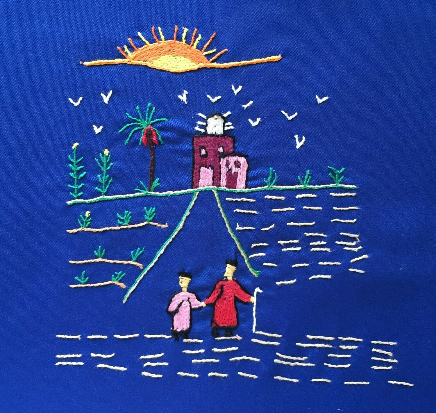Tote Bag: Royal Blue: It's a new day!