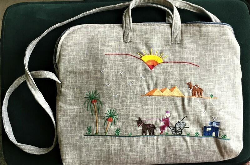 Laptop bag  Laptop bag Greige: Delivering Fuul near the Pyramids