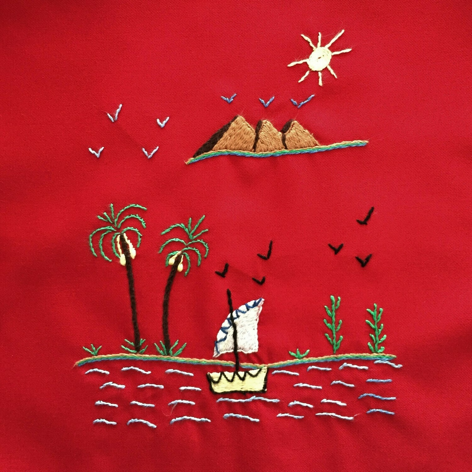 Tote Bag: Red: Pyramids on the Nile