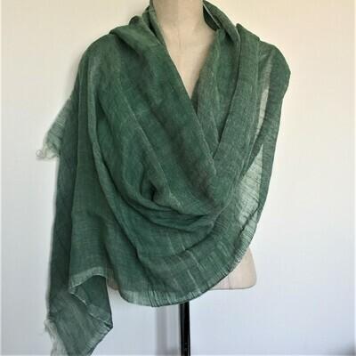 Linen Shawl: Green