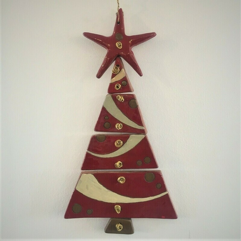 Zein Ceramic Christmas Tree Red