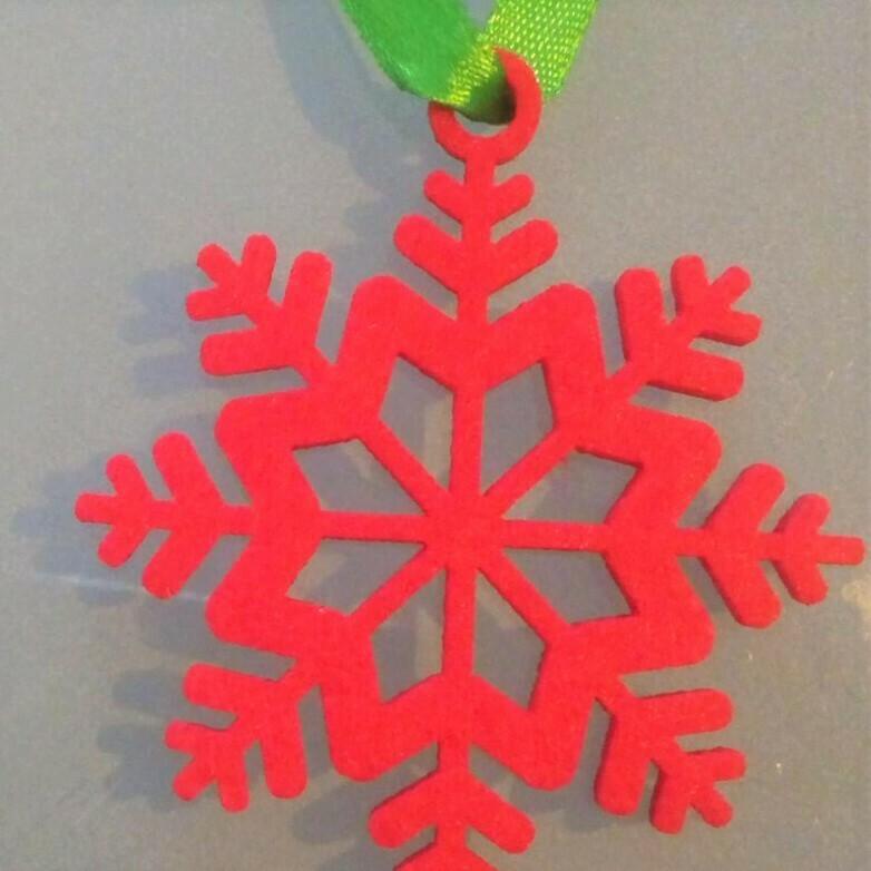 Christmas ornament, red felt star